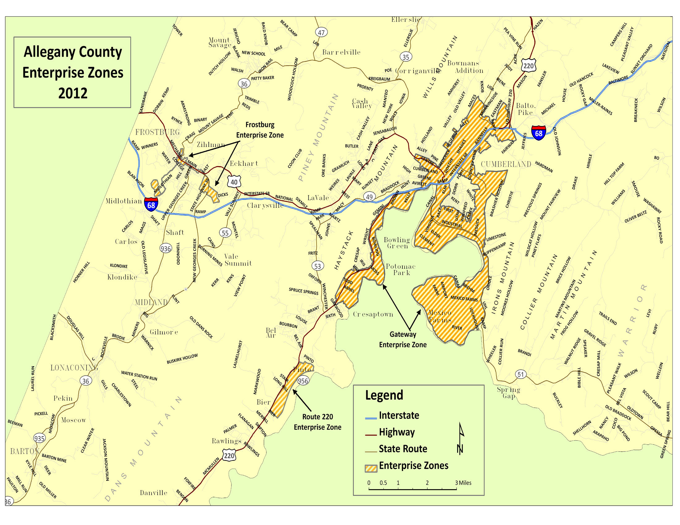 Allegany County Tax Maps Enterprise Zone | Allegany County Department of Economic and